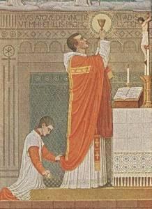 Messopfer / Heilige Wandlung / Altar mit Kerze