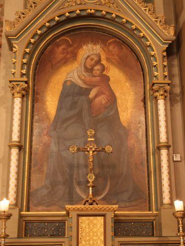 Seitenaltar / Muttergottes-Bild in St. Aegidii