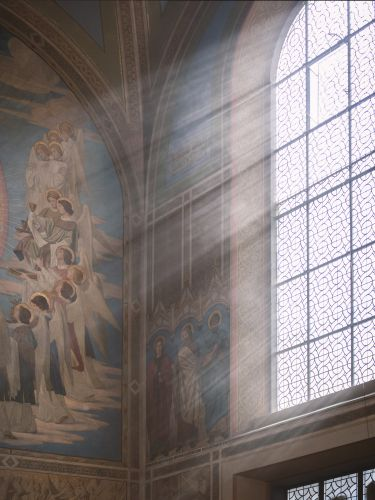 Fenster vom Altarraum in St. Aegidii