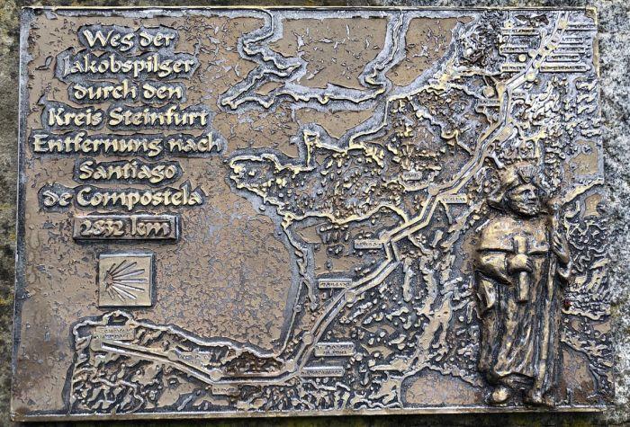 Karte vom Jakobsweg